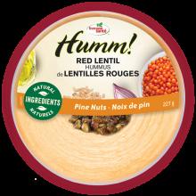 Hummus de lentilles rouges noix de pin