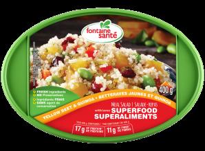 Salade de betteraves jaunes et quinoa