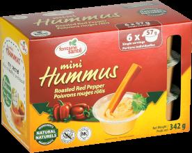 Mini Hummus poivrons rouges rôtis